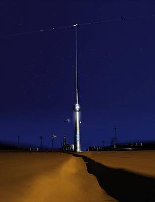 Space Elevator, Conceptual Image Poster by Science Photo Library