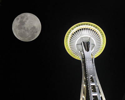 Space Needle Poster by David Gleeson