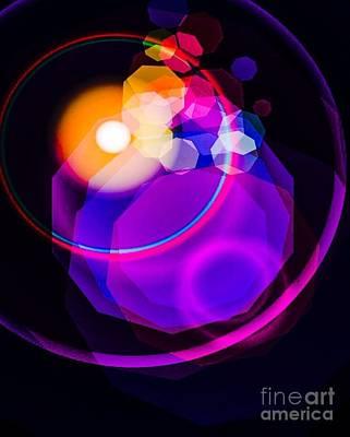 Space Orbit Poster by Gayle Price Thomas