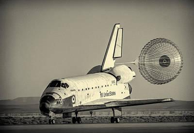Space Shuttle Atlantis Landing 2 Poster