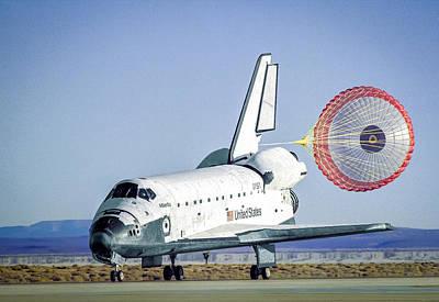 Space Shuttle Atlantis Landing Poster