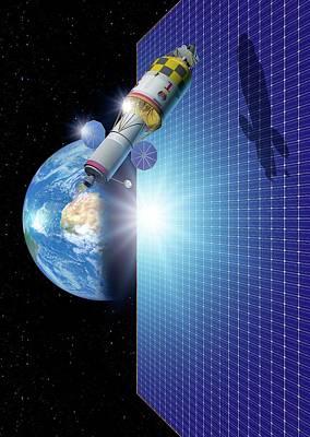 Space Solar Power Station Poster by Detlev Van Ravenswaay