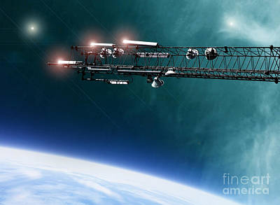 Space Station Communications Antenna Poster