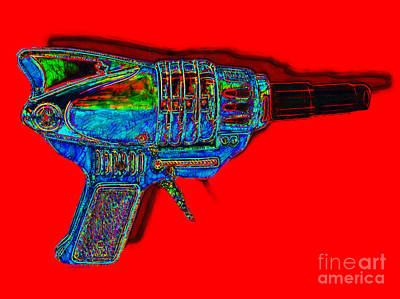 Spacegun 20130115v1 Poster by Wingsdomain Art and Photography