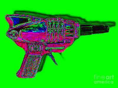 Spacegun 20130115v3 Poster by Wingsdomain Art and Photography