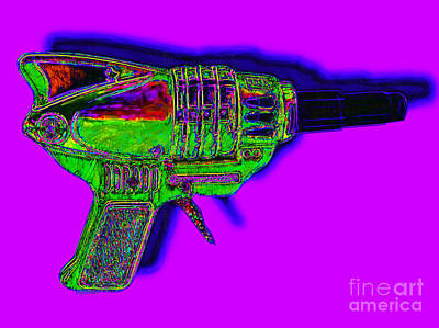 Spacegun 20130115v4 Poster by Wingsdomain Art and Photography