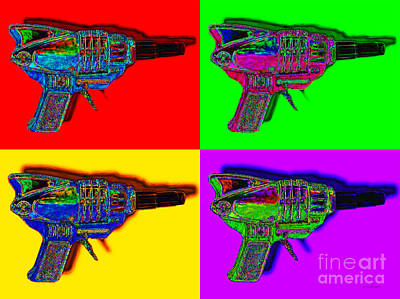 Spacegun Four 20130115 Poster by Wingsdomain Art and Photography
