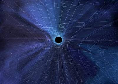 Spacetime Warped By A Black Hole Poster