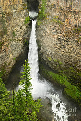Spahats Falls Waterfall In Wells Gray Provincial Park Poster