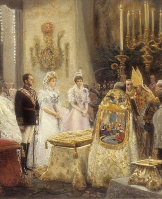 Spain 1906. Wedding Of Alfonso Xiii Poster by Everett