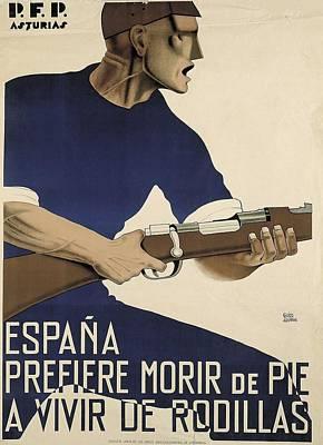 Spain. Civil War. Espa�a Prefiere Morir Poster by Everett