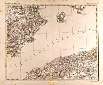 Spain Madrid Gotha Justus Perthes 1872 Atlas Poster by Spanish School