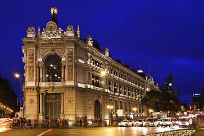 Spain, Madrid, Plaza De Cibeles, Banco Poster