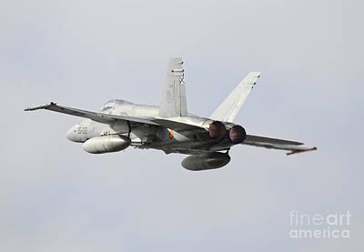 Spanish Air Force Ef-18m Hornet Taking Poster