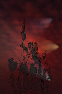 Poster featuring the digital art Spanish Cavalry by Angel Jesus De la Fuente