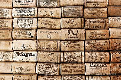 Spanish Corks Poster by Clare Bevan