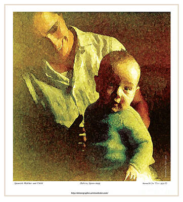 Poster featuring the photograph Spanish Mother And Child by Kenneth De Tore