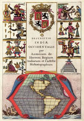 Spanish New World Atlas Title Page Poster