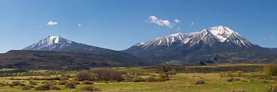 Spanish Peaks From La Veta Poster