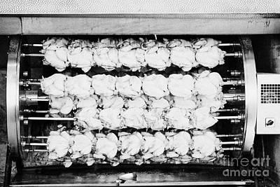 spanish rotisserie chicken oven Cambrils Catalonia Spain Poster