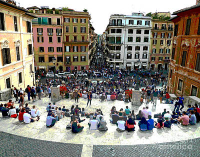 Spanish Steps Looking Down Poster