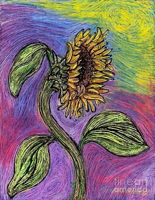 Spanish Sunflower Poster by Sarah Loft