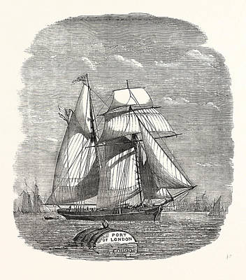 Spanish Vessel Arriving With Christmas Fruit 1854 Poster
