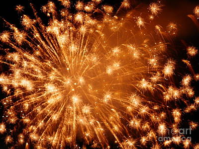 Sparkle Fireworks By Aclay Poster