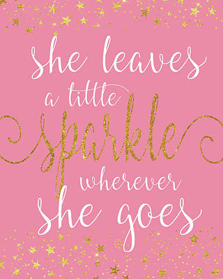 Sparkle Pink Poster by Alli Rogosich