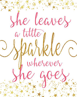 Sparkle White Poster by Alli Rogosich
