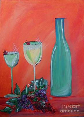 Sparkling Wine Glasses  Poster by Bobbi Groves