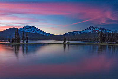 Sparks Lake Reflections Poster
