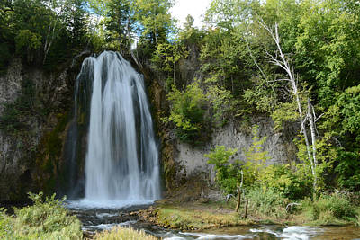 Spearfish Falls In Early September Poster