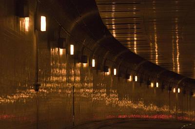 Speeding Through The Caldecott Tunnel Poster by Scott Lenhart