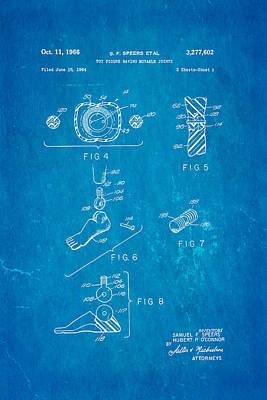 Speers G I Joe Action Man 2 Patent Art 1966 Blueprint Poster by Ian Monk