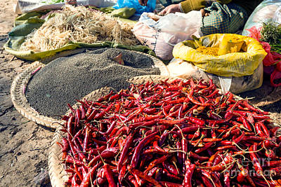 Spices At Local Market - Myanmar Poster