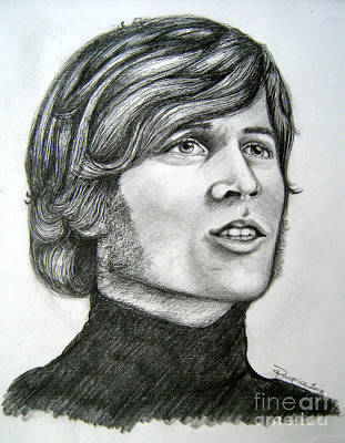 Poster featuring the drawing  A Young Barry Gibb by Patrice Torrillo