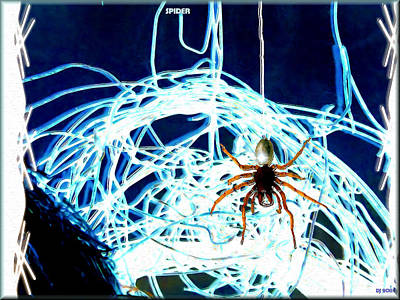 Poster featuring the digital art Spider by Daniel Janda