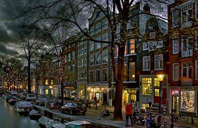 Spiegelgracht 8. Amsterdam Poster by Juan Carlos Ferro Duque