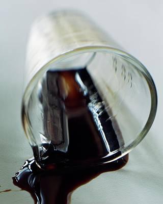 Spilled Balsamic Vinegar Poster by Romulo Yanes