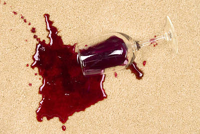 Spilled Wine On Carpet Poster
