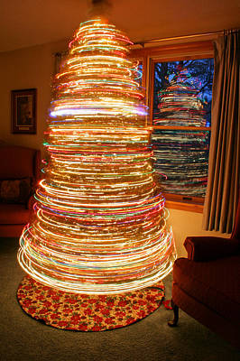 Spinning Christmas Tree Poster