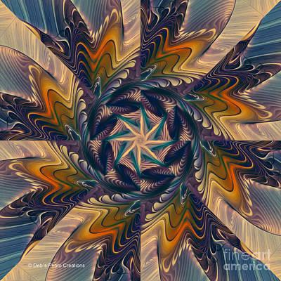 Spinning Energy Poster by Deborah Benoit