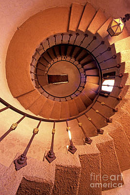 Spiral Castle Stairs Poster by Paul W Faust -  Impressions of Light