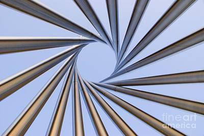 Spiral Metal Sculpture At Fermila Poster by Mark Williamson