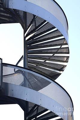 Spiral Staircase Poster by Bernard Jaubert