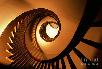 Spiral Staircase Poster by Bruce Roberts