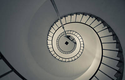 Spiral Staircase In A Lighthouse, Cabo Poster by Panoramic Images