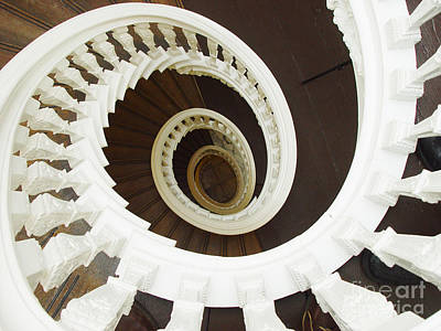 Spiral Stairs From Above Poster