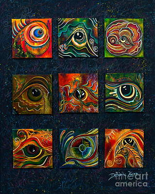 Spirit Eye Collection I Poster by Deborha Kerr